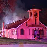 St Theresa Catholic Church in downtown Frederick caught fire on May 7, 2019