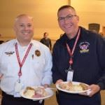 Officers Smiling with Lunch