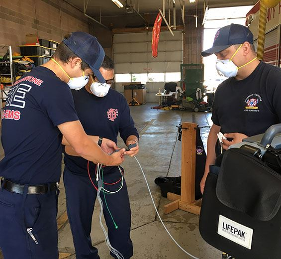 Crews continue to train at stations during COVID-19 Pandemic